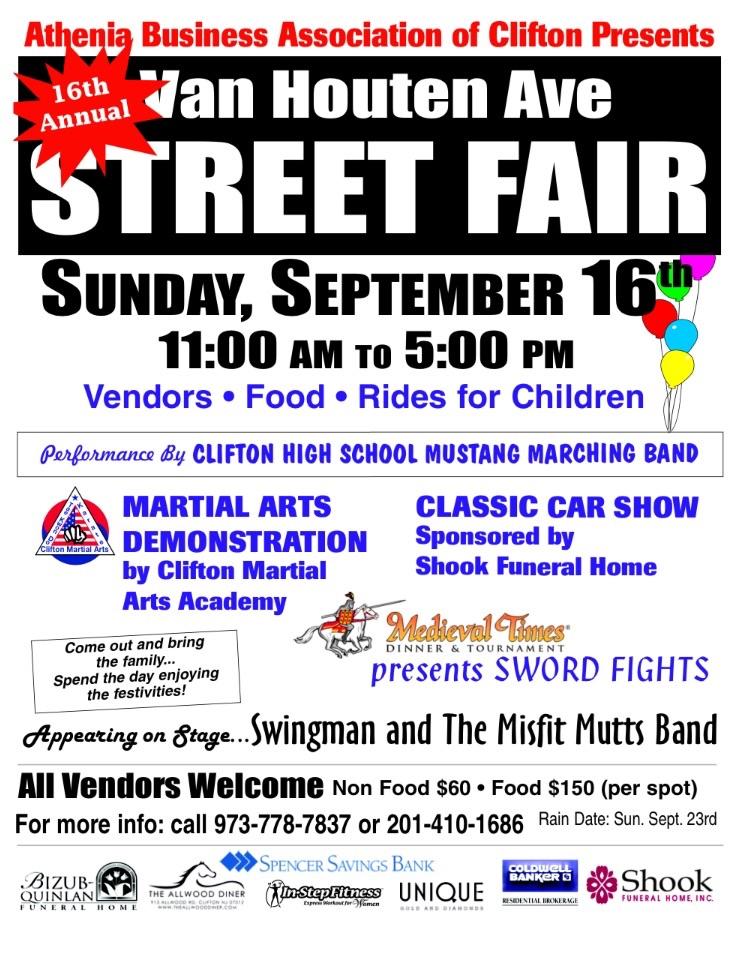16th Annual Van Houten Ave Street Fair